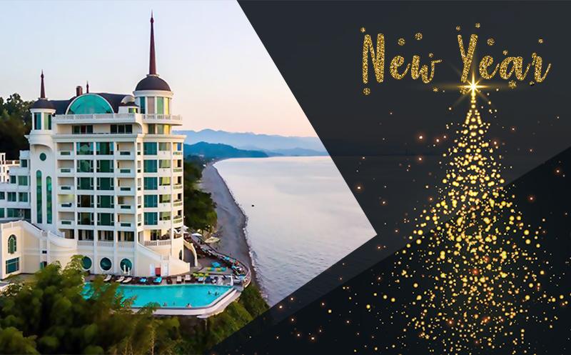საახალწლო შეავაზება! დაჯავშნეთ 2 ღამე და მიიღეთ მესამე ღამე საჩუქრად! 3 დღით ნომერი 2 პერსონაზე კვებით Premium კლასის სასტუმროში `Castello Mare Hotel & Wellness Resort`