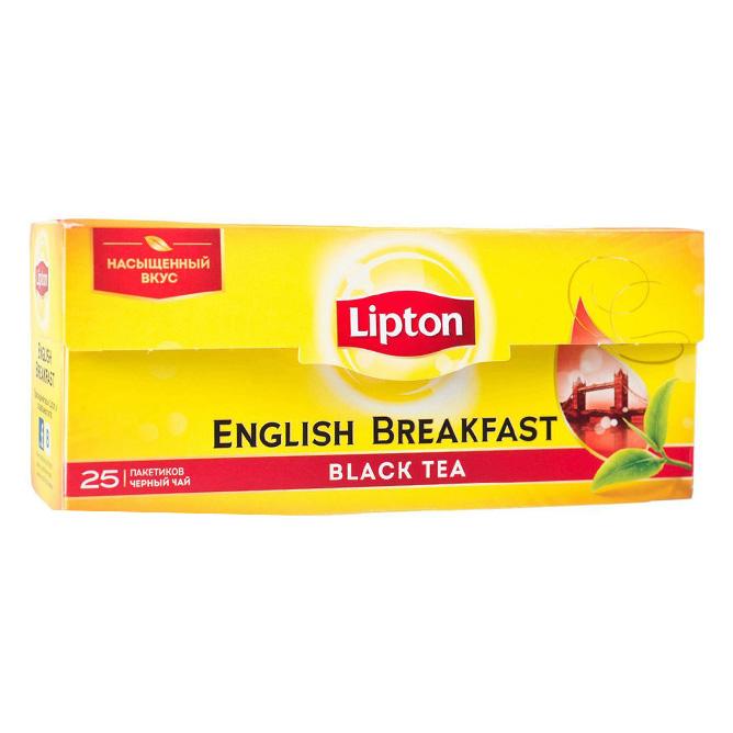 ჩაი ლიპტონი ერთჯერადი ინგლისური ბრექვესტი 25 ც