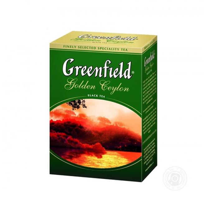 შავი ჩაი გოლდენ ცეილონი 100გრ. გრინფილდი