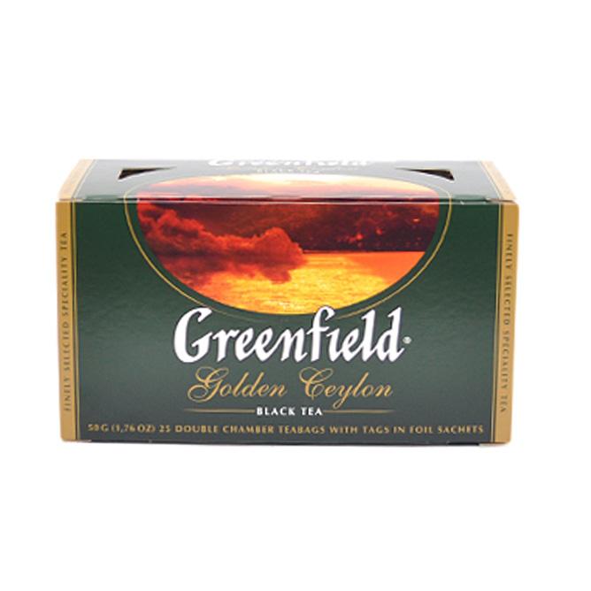 შავი ჩაი ერთჯერადი გოლდენ ცეილონ 25 ც გრინფილდი