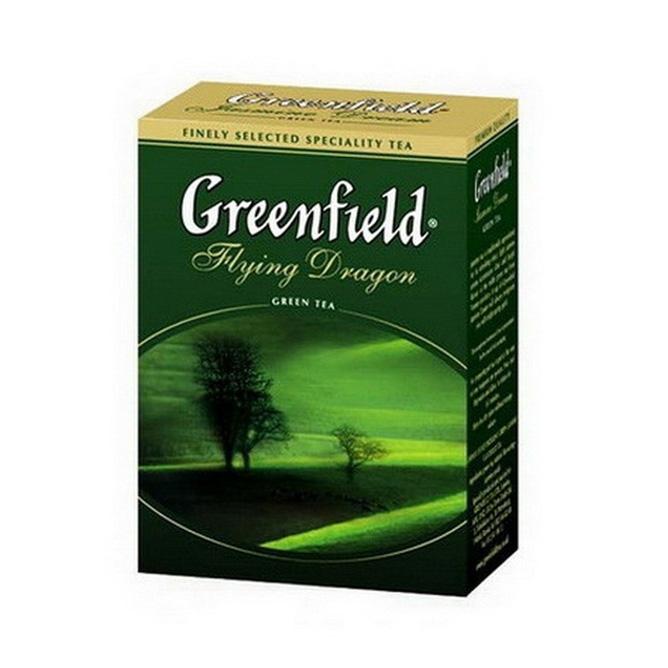 მწვანე ჩაი დასაყენებელი 100გრ.  გრინფილდი