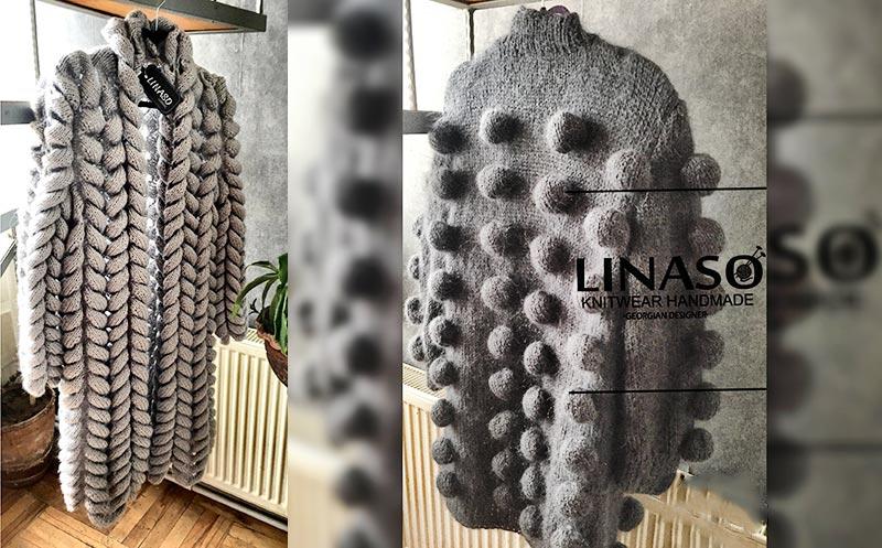 ულამაზესი და უცხო დიზაინის ხელნაკეთი ჟაკეტები `LINASO`-სგან!