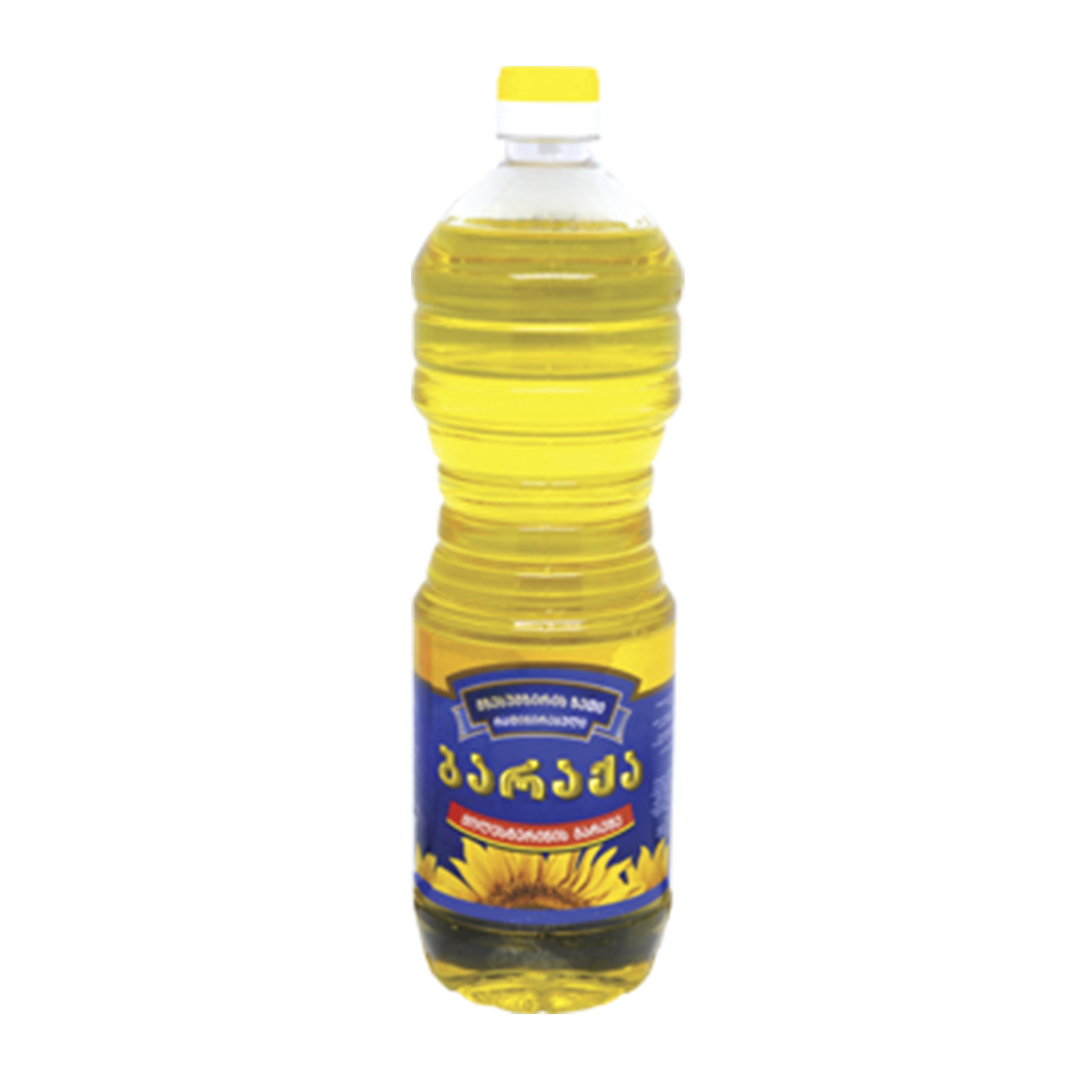 """მზესუმზირის ზეთი """"ბარაქა"""" 1 ლ"""
