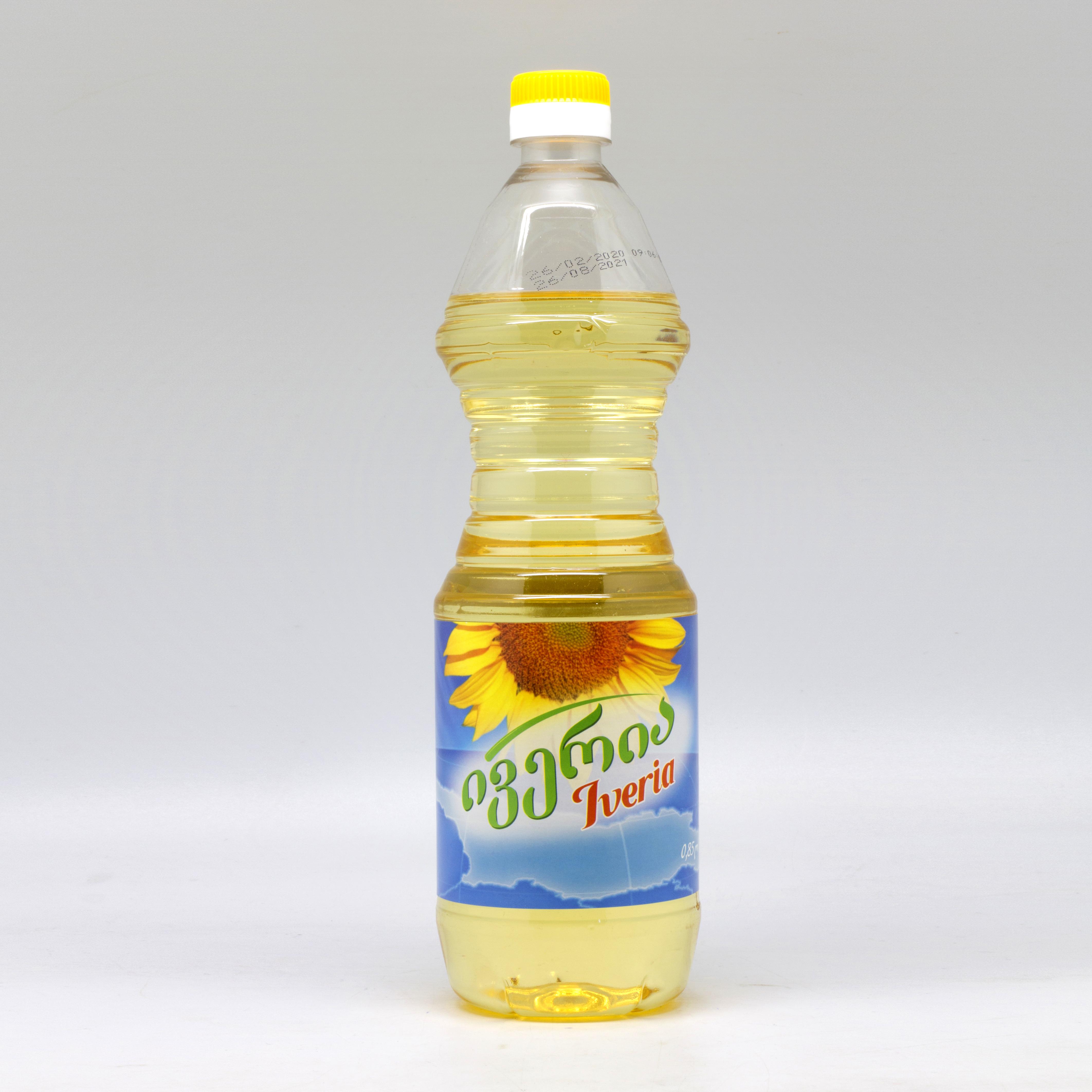 """მზესუმზირის  ზეთი """"ივერია"""" 0.850 ლ"""