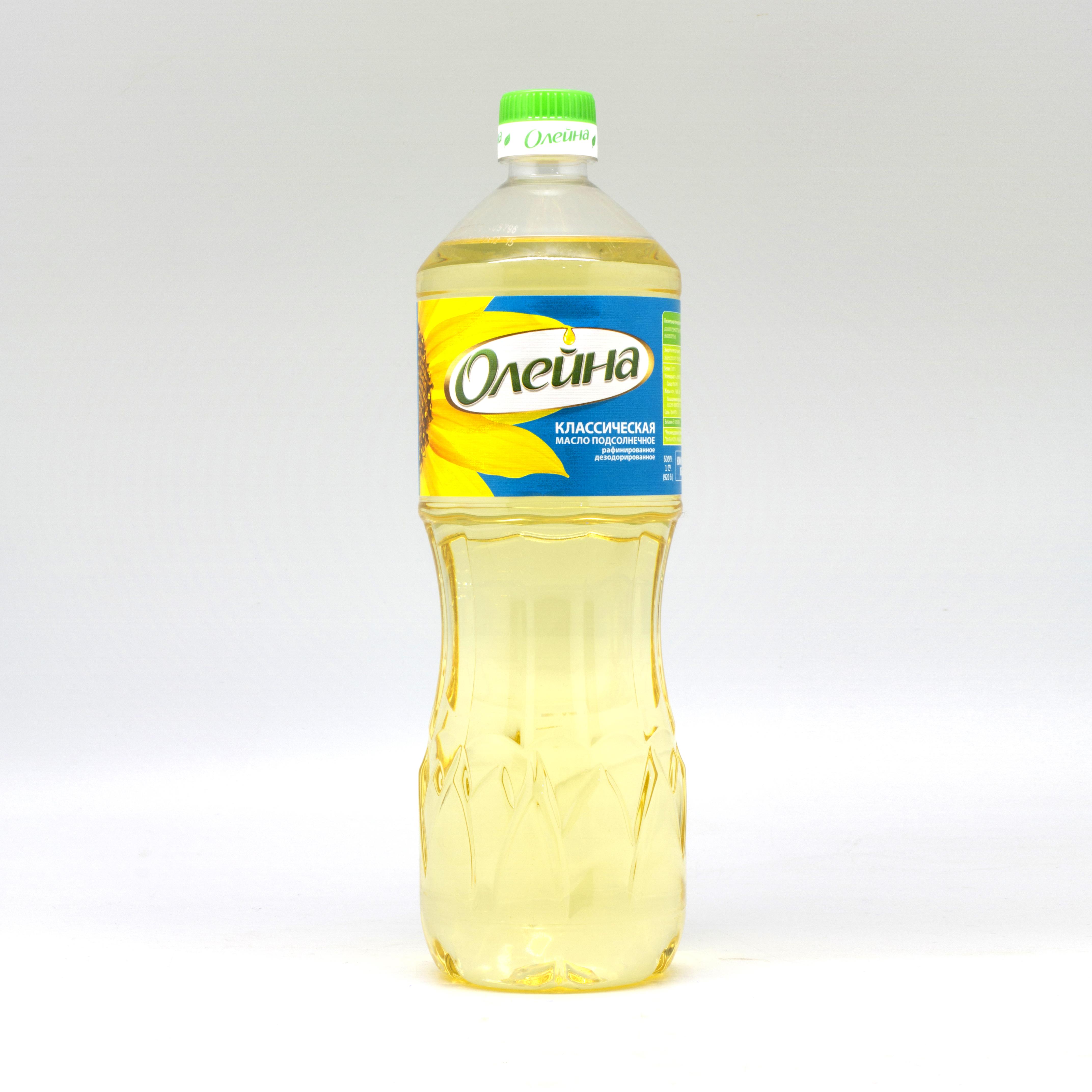 """მზესუმზირის ზეთი """"ოლეინა"""" 1 ლ"""