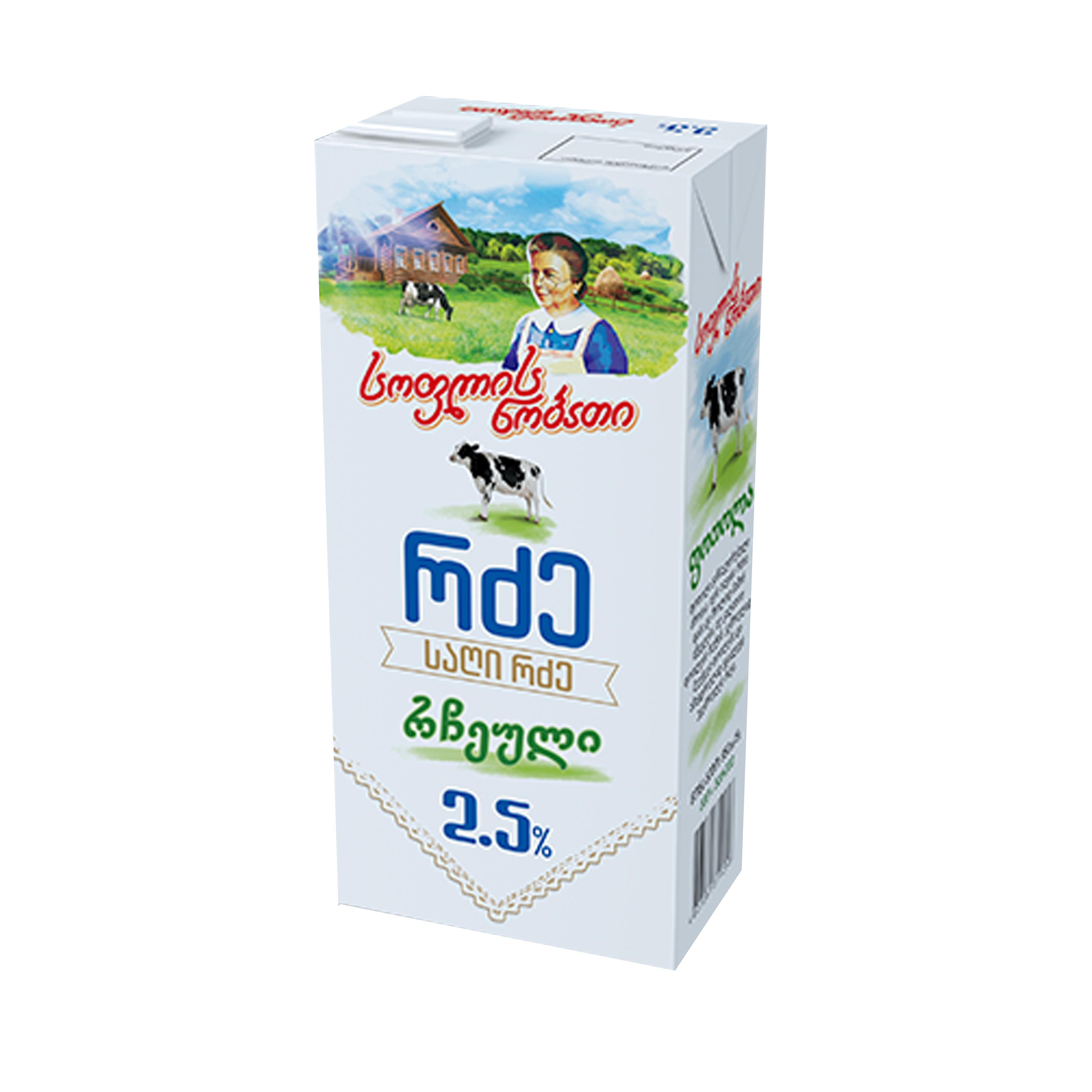 რძე რჩეული სოფ ნობ 2,5% 950გ